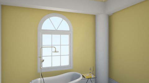 Yellow Bathroom - Rustic - Bathroom - by savgriffin