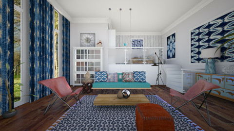 Shibori - Eclectic - Living room - by janip