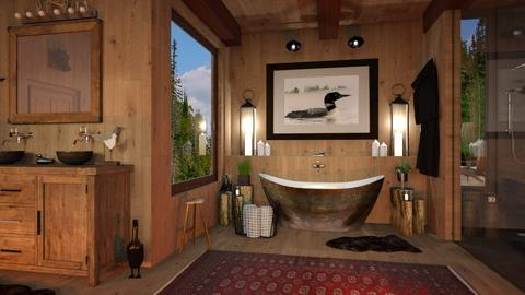 Swimming Loon - Bathroom - by smunro7