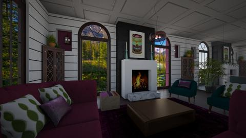 Funky Chic - Feminine - Living room - by timeandplace