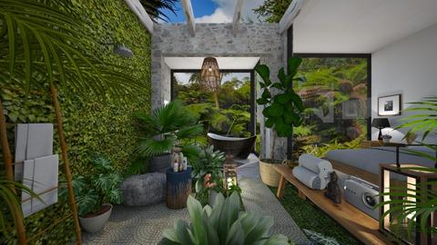 urban jungle  - Bathroom - by nataliaestevez