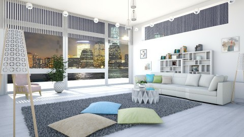 M_ Distant lights - Minimal - Living room - by milyca8