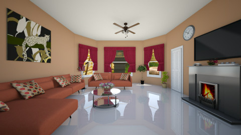 clasic - Living room - by Jen Guerra