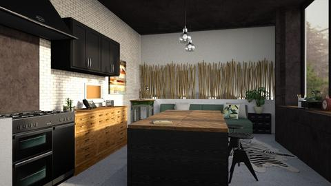 Blackness in the light - Modern - Kitchen - by jjannnii