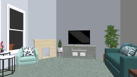 Green white dark green - Modern - Living room - by jessetobu