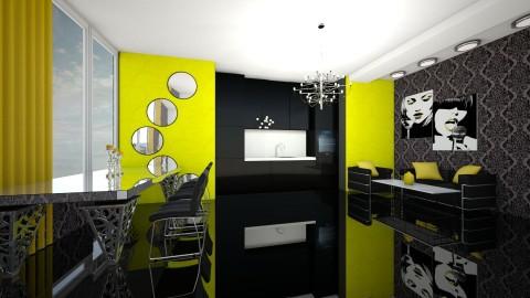 yellowXblack - Modern - Dining room - by dimanna8