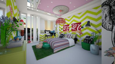 vibrant design - Modern - Bedroom - by sometimes i am here