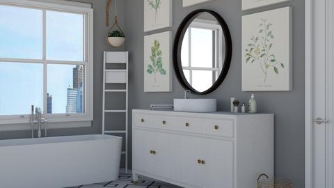grey - Modern - Bathroom - by NEVERQUITDESIGNIT