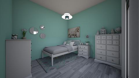 teal and white girls teen - Modern - Bedroom - by jade1111