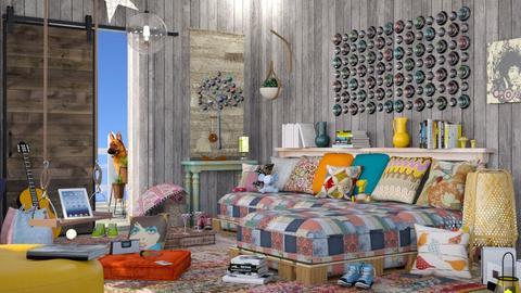 M_Bohem Farm - Living room - by milyca8