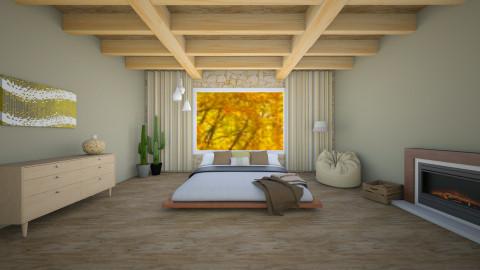minimalist natural bed - Minimal - Bedroom - by rachelmarieknepp