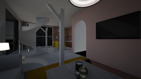 woonkamer met palen - Modern - Living room - by ginnystephanie