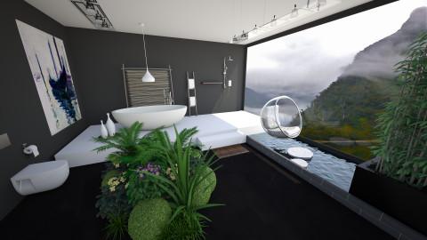 Sereniity - Minimal - Bathroom - by Anjess