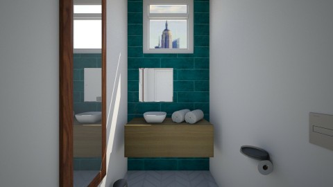 High Rise Apartment Pt 6 - Bathroom - by CatLover0110