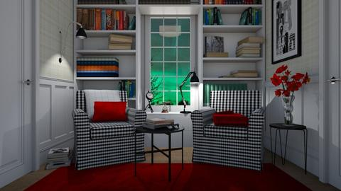 Checkered reading corner - Living room - by Tuitsi