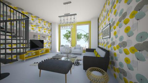 GRyel - Retro - Living room - by Saj Trinaest