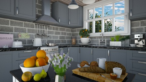 Fruit - Vintage - Kitchen - by Liu Kovac