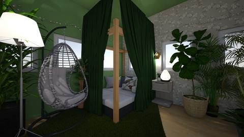 plant mom - Bedroom - by HIHELLOHI