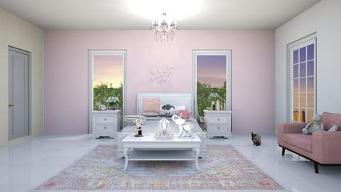 Rose Pink Bedroom - Glamour - Bedroom - by AllyHearts