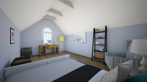 Attic Bedroom  - Bedroom - by Enaj