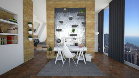 waterfall divider  - Office - by GoliaNova