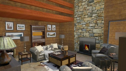 cozy cabin - Country - Living room - by mywishlr
