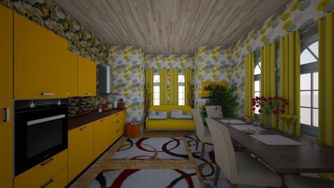 szoba - Dining room - by istvanka