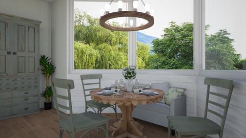 Green Dining - Dining room - by Sarah Anjuli Gailey