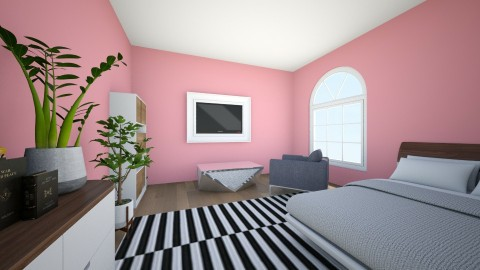 Pink Crazyness - Bedroom - by violetpeaks