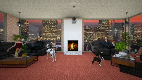 ElephantintheRoom - Masculine - Living room - by lori gilluly