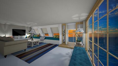 O mar - Living room - by rosanebpf