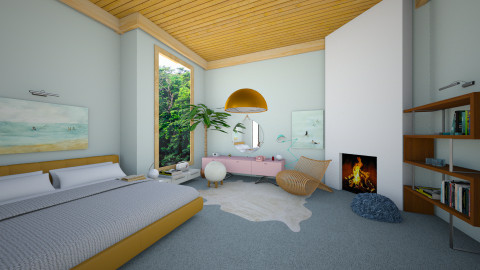 pantone rose and blue - Retro - Bedroom - by whateffer
