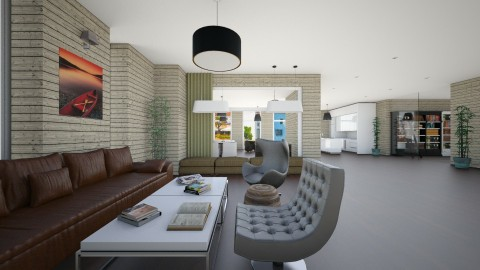 Premium Student Hotel - Living room - by Nameit