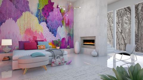 Mural Bedroom - Bedroom - by LB1981