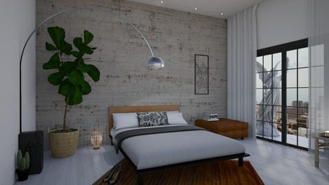 white bedroom  - Minimal - Bedroom - by litalbdesign