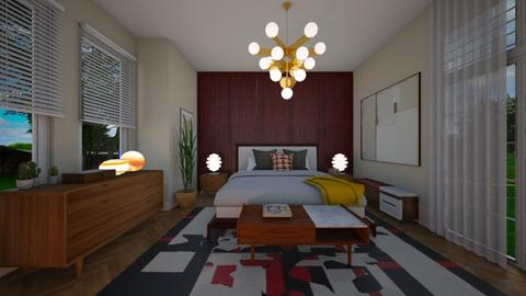 Mid century bedroom - by Themis Aline Calcavecchia