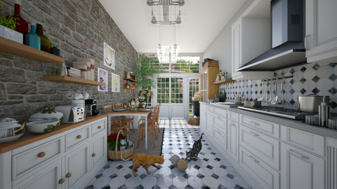 Country Kitchen - Country - Kitchen - by Joao M Palla