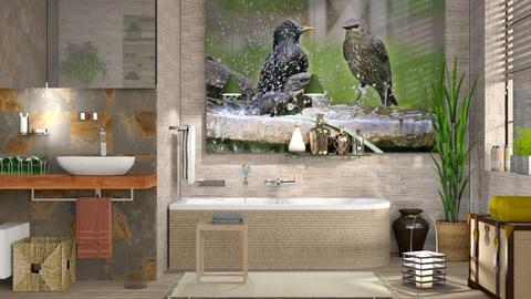 Birds Bathing - Eclectic - Bathroom - by Sally Simpson