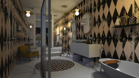 chequered - Bathroom - by Ripley86