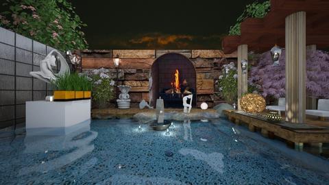 Fireside pool - Garden - by Wildflowers