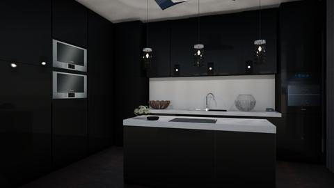 Black Kitchen  - Glamour - Kitchen - by RedVelvet21