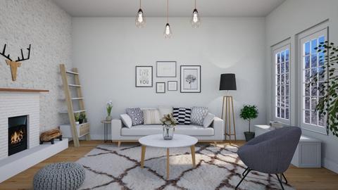 Scandinavian living room - by domenicopennestri2