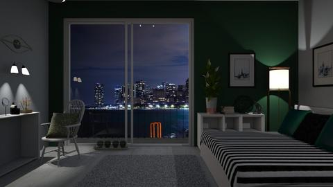 Evening green mood - Bedroom - by agapka