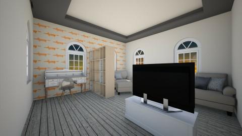 una sala de la classe - Living room - by kemelly hinara