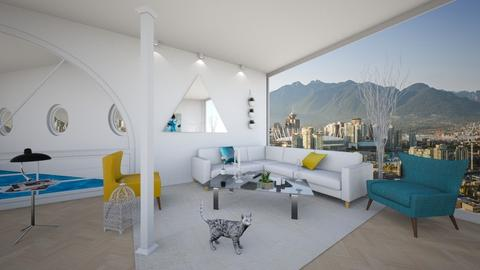 Columns Living Room 8 - Minimal - Living room - by yaizalloriginal