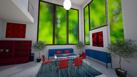 Coloured Dining Room  - Dining room - by TaisiBird