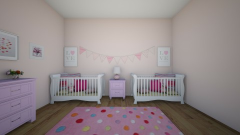 pretty in pink  - Kids room - by Katherine Gilbert