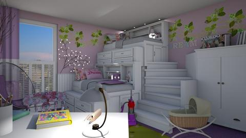 bunk beds - Feminine - Kids room - by donella