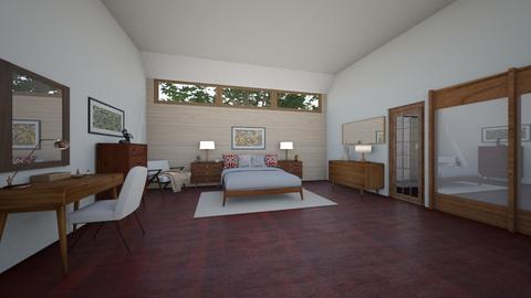 Mid Century Modern BR 2 - Bedroom - by  krc60