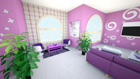 Purple heaven - Modern - Living room - by Teti
